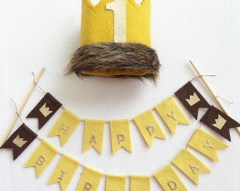 Where the Wild Things Are Inspired Crown and Bunting Set, Wild Things Bunting, Wild Things Crown, Wild One Crown, Wild Thing