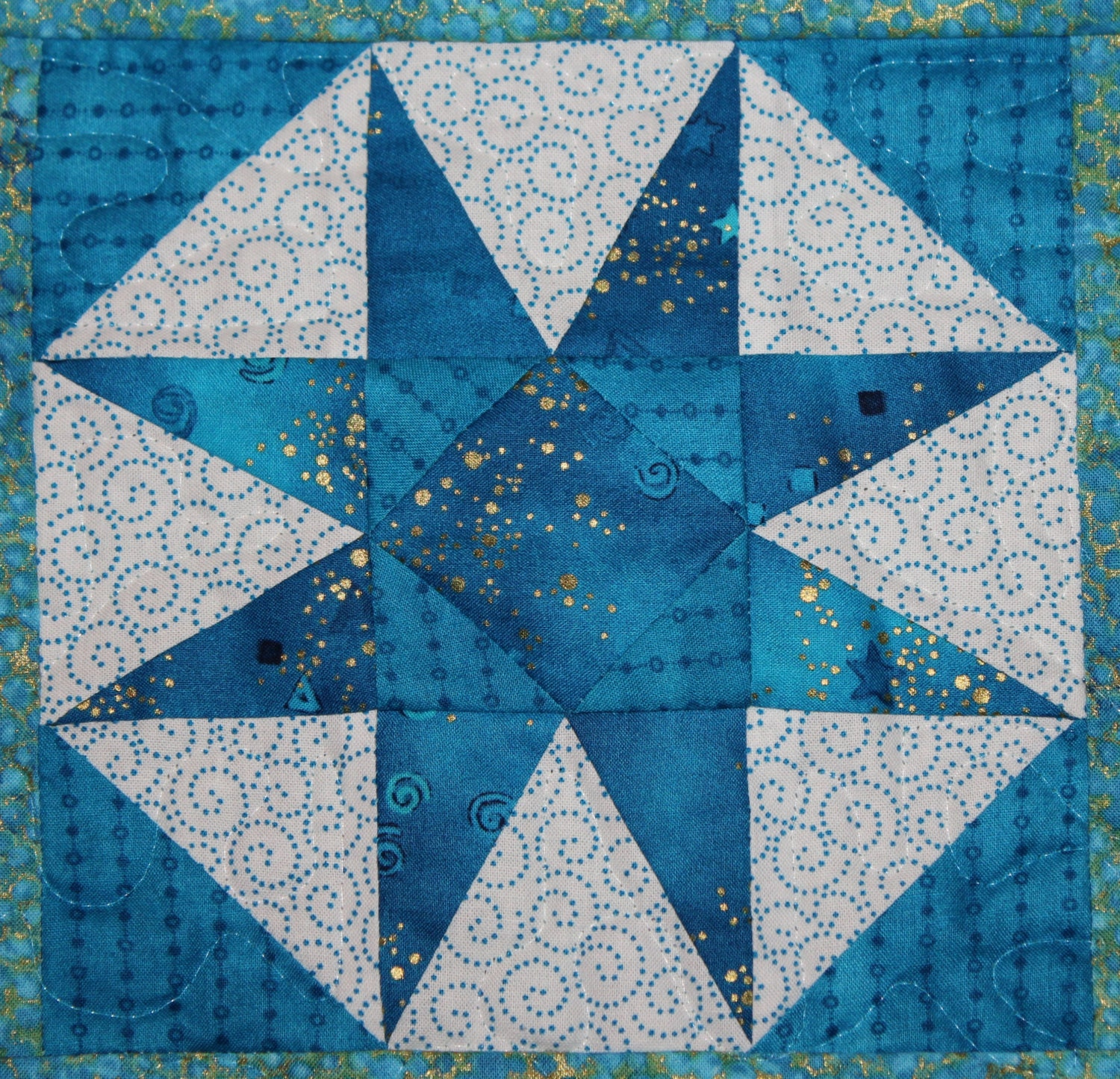 Storm at sea paper pieced PDF quilt pattern easy foundation : easy star quilt - Adamdwight.com