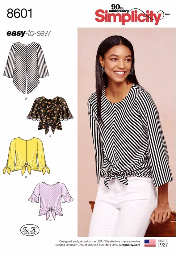 Sewing Pattern Pullover Top Pattern Easy Blouse Pattern