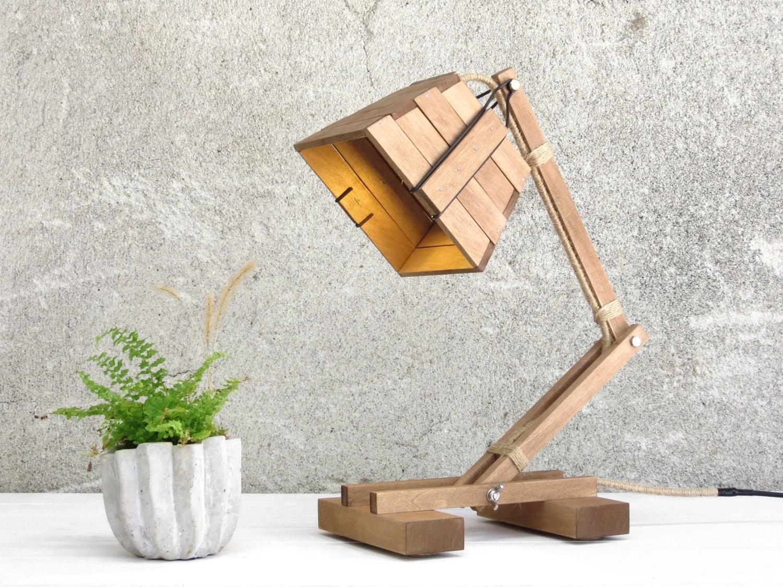 🔎zoom - Industrial Lamp Industrial Style Wood Lamp Desk Lamp