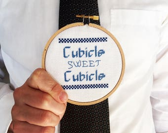 Cubicle Sweet Cubicle Cross-Stitch Pattern PDF