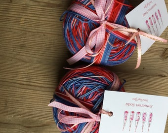 Royal wedding self striping sock yarn