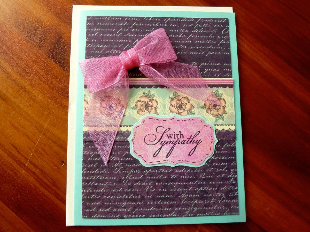 Sympathy Card Handmade Sympathy Card Sweet Condolence Card