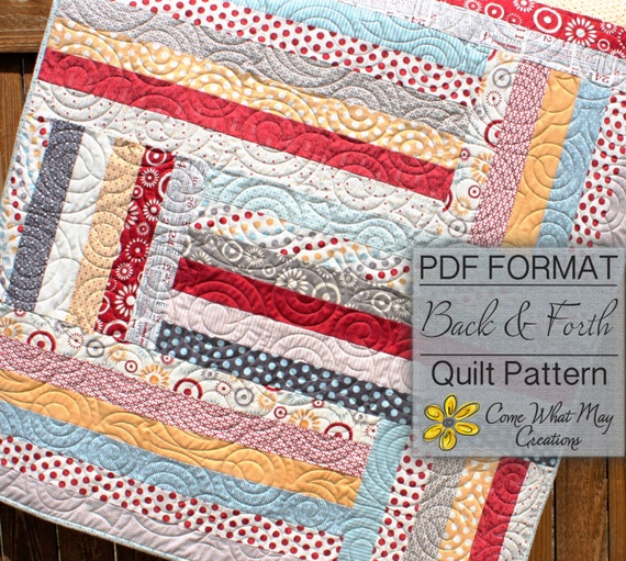 Baby Quilt Pattern Jelly Roll Quilt Pattern Back Amp Forth