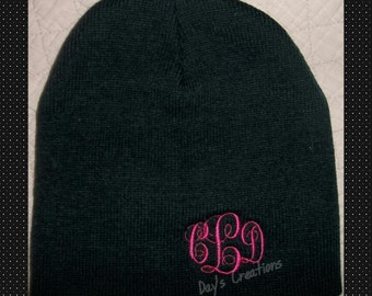 Monogrammed Beanie Cap - Personalized Winter Hat - Embroidered Monogram - Stocking Cap - Monogram Gift - Beanie Cap - Custom Monogram