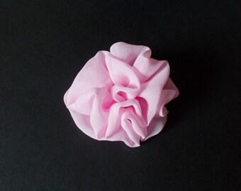 Pink flower veil polyester