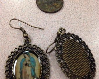 Virgin of Guadalupe earrings