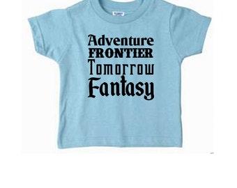 Toddler Disney Shirts Disney Lands Shirts  Disneyland Shirts Disney World Shirts Magic Kingdom Shirts