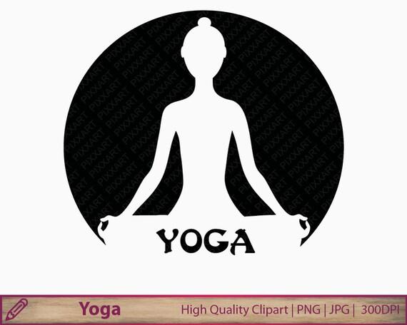Yoga Clipart Meditation Clip Art Silhouette Logo Zen