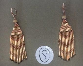 Boucles d'oreilles pendantes en perles