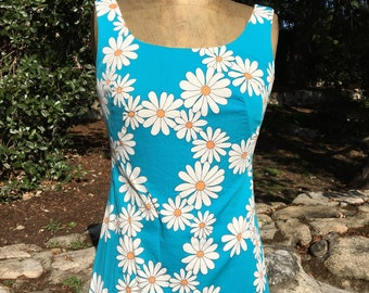 Vintage Sweet 60's Daisy Top Tunic