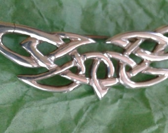 Sterling Silver Celtic Knot Wings Pin