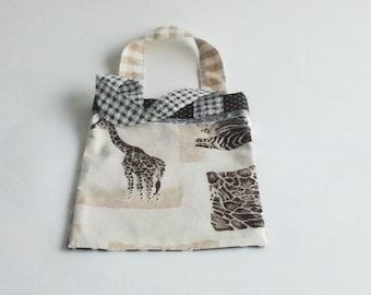 Kid's Bag Giraffe zebra print