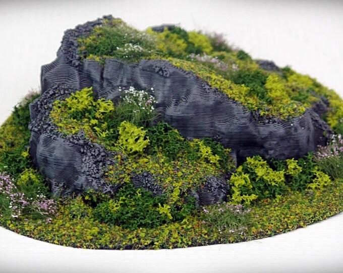 Wargame Terrain - STUB Outcropping A – Miniature Wargaming & RPG terrain