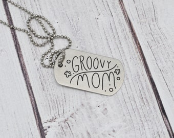 Dog Tag - Actual Handwriting - Memorial Gift - Mother's Day Gift - Personalized - Sentimental - Military Deployment Gift - Stainless Steel