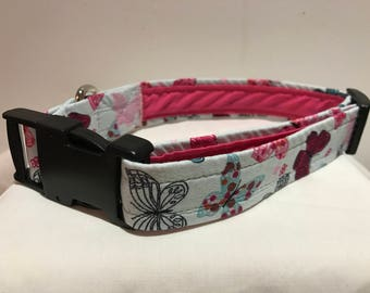 Butterfly Dog Collar Fully Lined XS-XL
