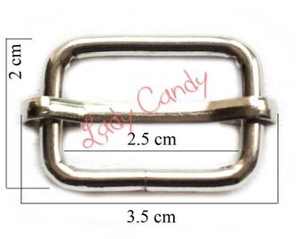 6 ring of adjusting shoulder bag cross body strap fastening silver #330270