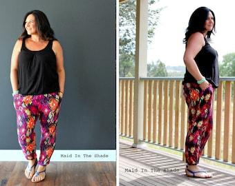 PATTERN : JOGGERS - Ladies Harem Pants - Lounge Pants - PDF Pattern Sewing Pattern - Instant Download - Pattern Emporium