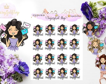 Miss Glam Lady D Happy Mail Planner Stickers
