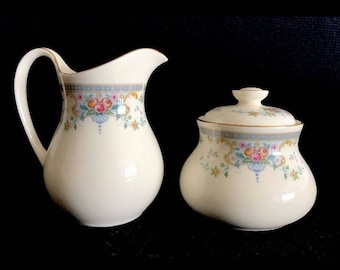 Royal Doulton Juliet Romance Collection Creamer & Sugar Bowl Bone China