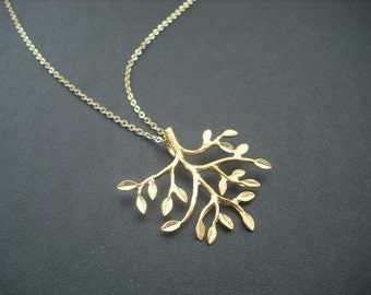 14k Gold Filled chain - mod branch necklace
