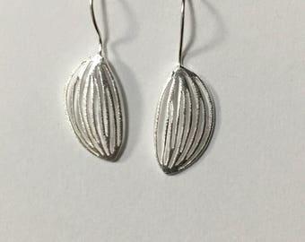 Sterling Silver Cocoa Pod Earrings