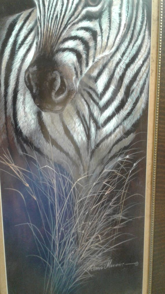 Ruane Manning Zebra Ruane Manning Wildlife art Zebra art