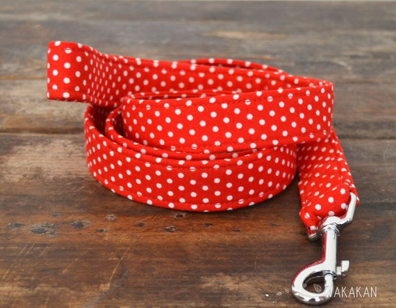 Leash for dog model Mini Ole. Handmade with 100% cotton fabric and webbing. Two width available. Wakakan