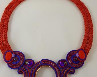 Ultra Violett Soutache Necklace
