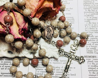 Memorial Rosary, Memory bead rosary, Custom, dried flower, funeral flowers from any other memory. Custom item.