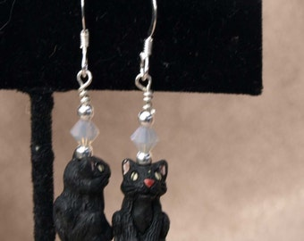 Black Cat Earrings (9106)