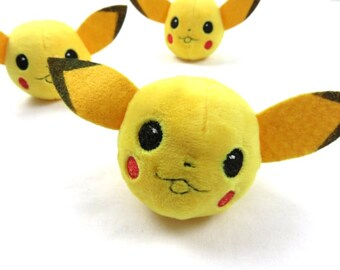 Pikachu Pokemon Pom Pom - for hats beanies and crafts