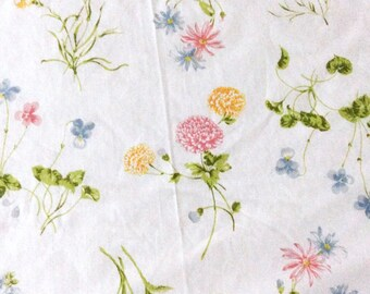 Vintage Twin Flat Sheet with Spring Flowers by Springmaid Floral Vintage Bed Linens