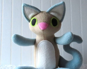 Blue Point Siamese Cat Plush, Cat Doll, Toy Cat