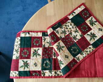 Quilted handmade table runners