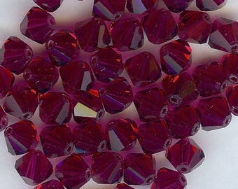 T8 5301 RU *** 8 bicone beads crystal Swarovski 8mm RUBY