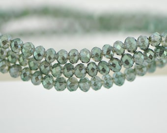 Crystal Glass Rondelle Faceted beads 2x3mm Olivine -BZ0313/ 145pcs