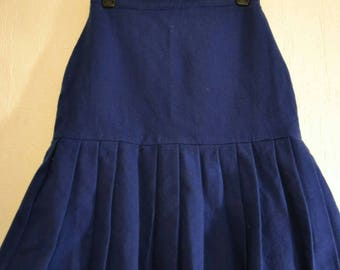 60s blue skirt