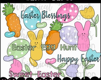Easter Basics Clipart Collection- Immediate Download