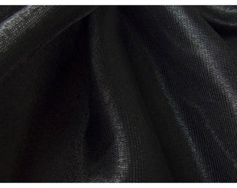 shiny black fabric