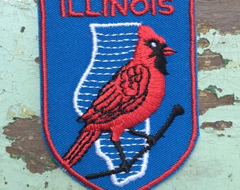 Illinois Vintage Souvenir Travel Patch from Voyager - LAST ONE!