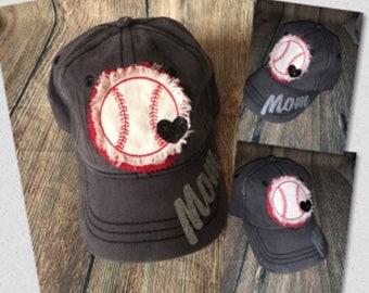 Raggy Baseball Mom hat