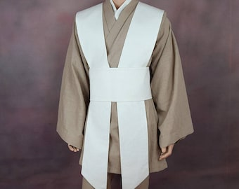 Jedi Costume Tunic set with Tabards and Obi - Linen