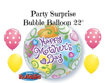 Mothers Day Balloon Bouquet Happy Mothers Day Bubble Balloons Mom Balloon