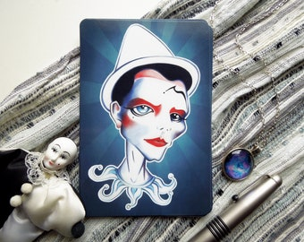 Pierrot Postcard, 4 x 6 Limited Edition Postcard, Postcrossing, Snail Mail, Swap