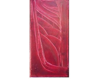 Little Red, Original Modern Art Textured Abstract Painting by Lisa Strassheim