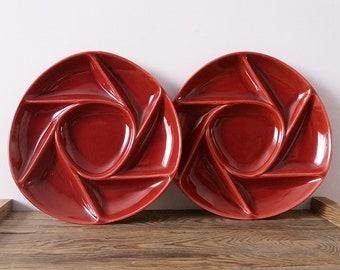 Serving plates Longchamp France/ Vintege platters/ Ceramic tray/Tableware