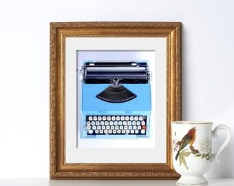 Typewriter Print Digital Download Gifts for Authors Typewriter Art Home Office Decor Typewriter Poster Writer Gift for Writer Classroom Art