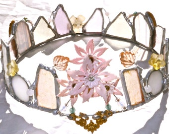 Faerie Crown - Morning so glorious - One of a Kind Heirloom - Faerie Magic - Enchanted World Bridal Tiara -