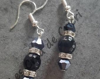 """""""Silver 925"""" dangle earrings"""